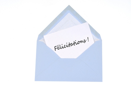 The letter of congratulations