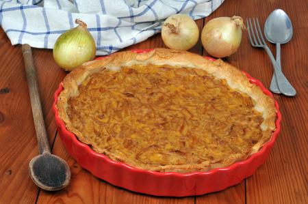 Homemade onion tart