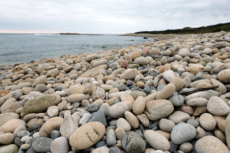 Pebble beach in Brittany