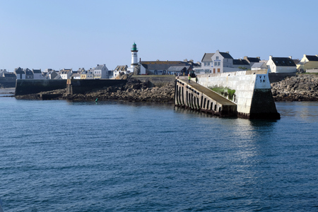 Entrance to the port of Sein Island
