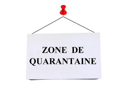 Quarantine area Stockfoto