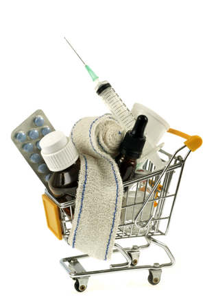 Purchasing products and medicines in a shopping cart
