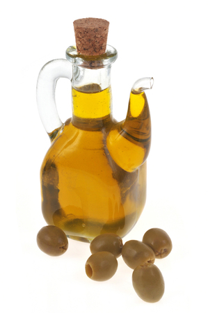 Carafe of olive oil Stok Fotoğraf