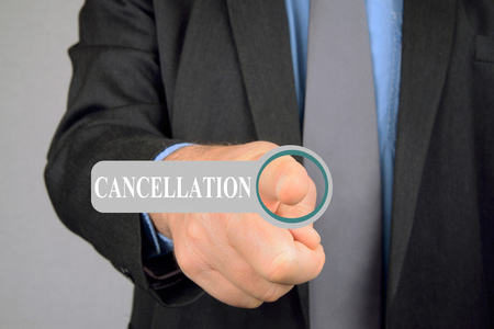 Cancellation online Фото со стока - 120276730