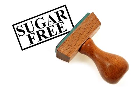 Inking stamp indicating sugar free Stock fotó
