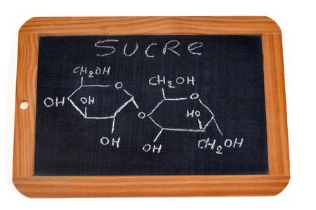 Chemical formula of sugar Фото со стока