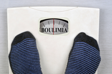 Scale indicating bulimia Stock fotó