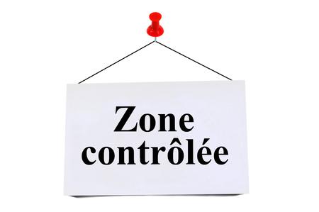 Zone contrôlée Banque d'images
