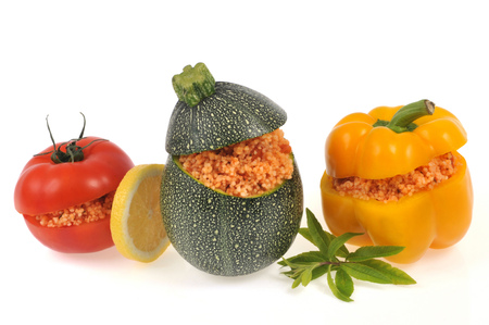 Vegetables stuffed with tabbouleh
