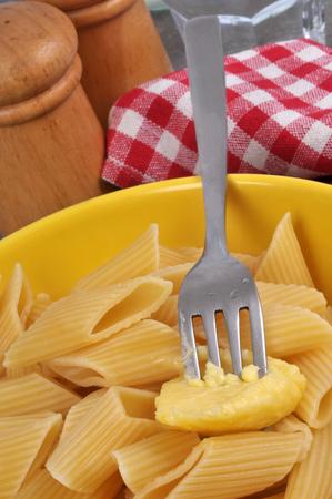Plate of butter penne Stock fotó