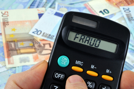 Calculation of the fraud Stock Photo
