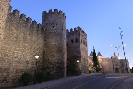 The walls of Toledo in Spain