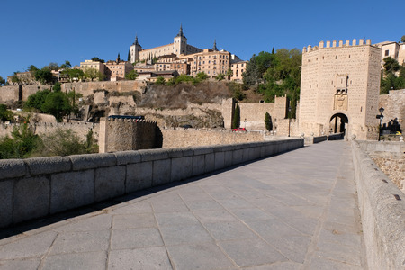 Alcantara Bridge in Toledo, Spain