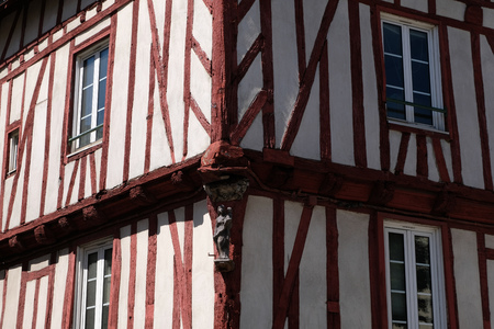 Half-timbered house in Vannes in Brittany Éditoriale
