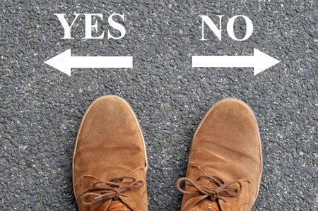 Yes or no Stok Fotoğraf