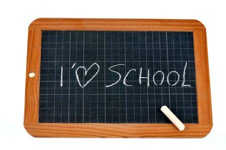 I love school writing on a school slate