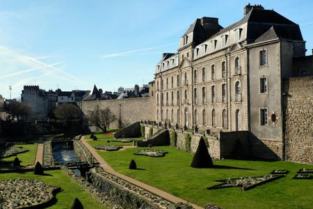 The castle of Hermine in Vannes