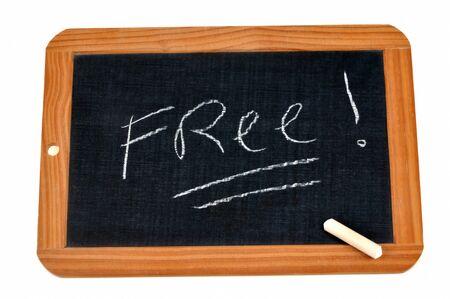 Free writing on a school slate Reklamní fotografie
