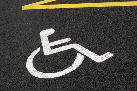 Parking space reserved for disabled people
