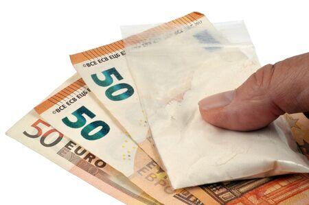 Buying heroin Banco de Imagens