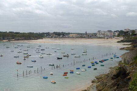 General view of Saint Lunaire in Brittany