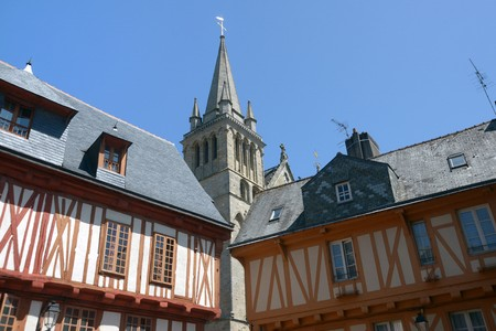 Half-timbered houses in Vannes