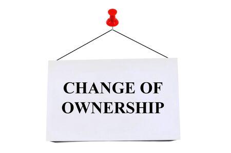 Change of ownership Stock Photo