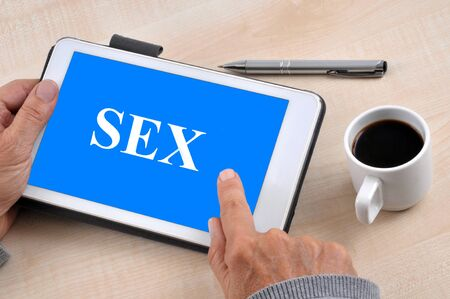 Connecting to a porn site with a touch pad