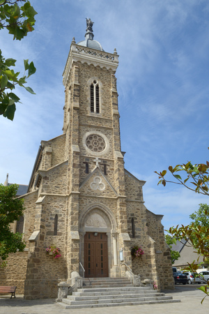 The church of Saint Lunaire in Brittany