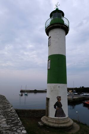 Lighthouse at the port of Doelan Stockfoto