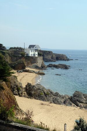 Beach of Pouldu in Finist?re in Brittany