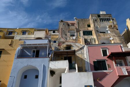 Colorful houses of the village of Corricella on the island of Procida