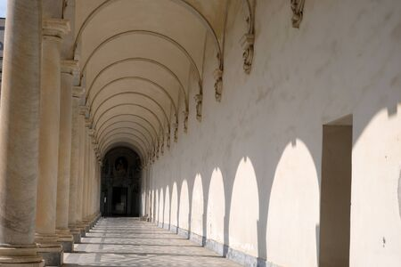 Corridor of a cloister in Italy