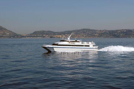 Hydrofoil at sea