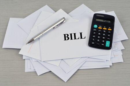 Bill concept Stock Photo