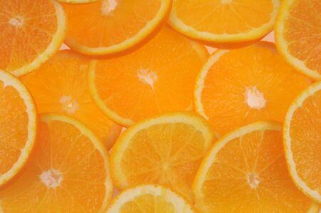 Slices of orange in closeup