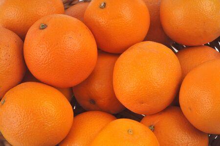 Oranges in bulk close up