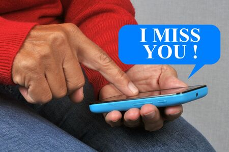 I miss you sand by SMS