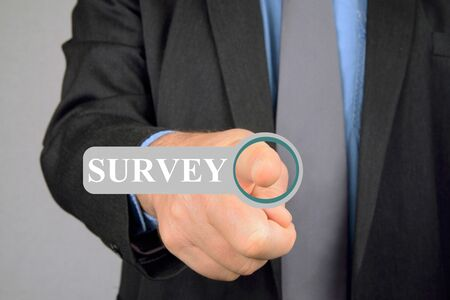 Connection to an online survey Stock Photo
