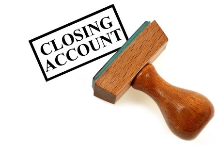 Closing account inking pad Stock Photo