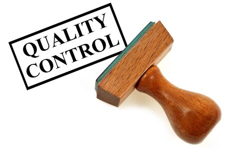 Quality control ink pad Stock Photo