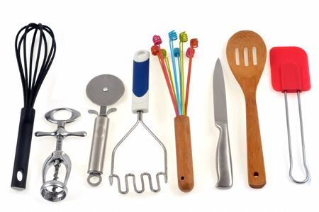 Kitchen utensils on a white background Stock fotó