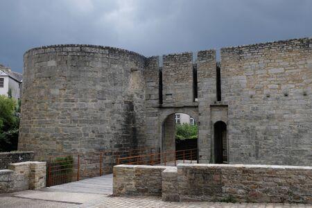 Porte de la Tour-Trumpet in Vannes Stok Fotoğraf