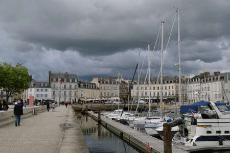 Marina of Vannes in Brittany