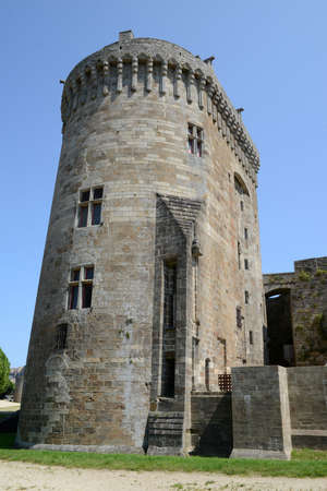 Castle of Dinan in the Cotes d'Armor in Brittany Редакционное