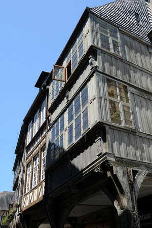 Half-timbered houses in Dinan in Brittany