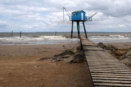 Carrelet fishing hut at Tharon-Plage