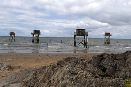 Carrelet fishing huts at Tharon-Plage
