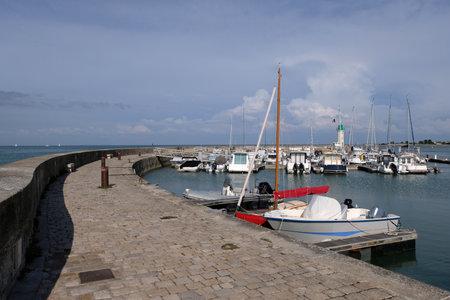Marina of La Flotte-en-Re in France