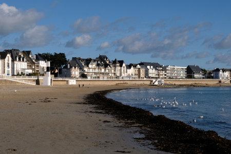 The Grande Plage of Quiberon in Morbihan in Brittany